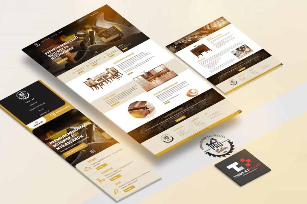 Céges bemutatkozó weboldal, weboldal tervezés Debrecen, kivállalat weboldal