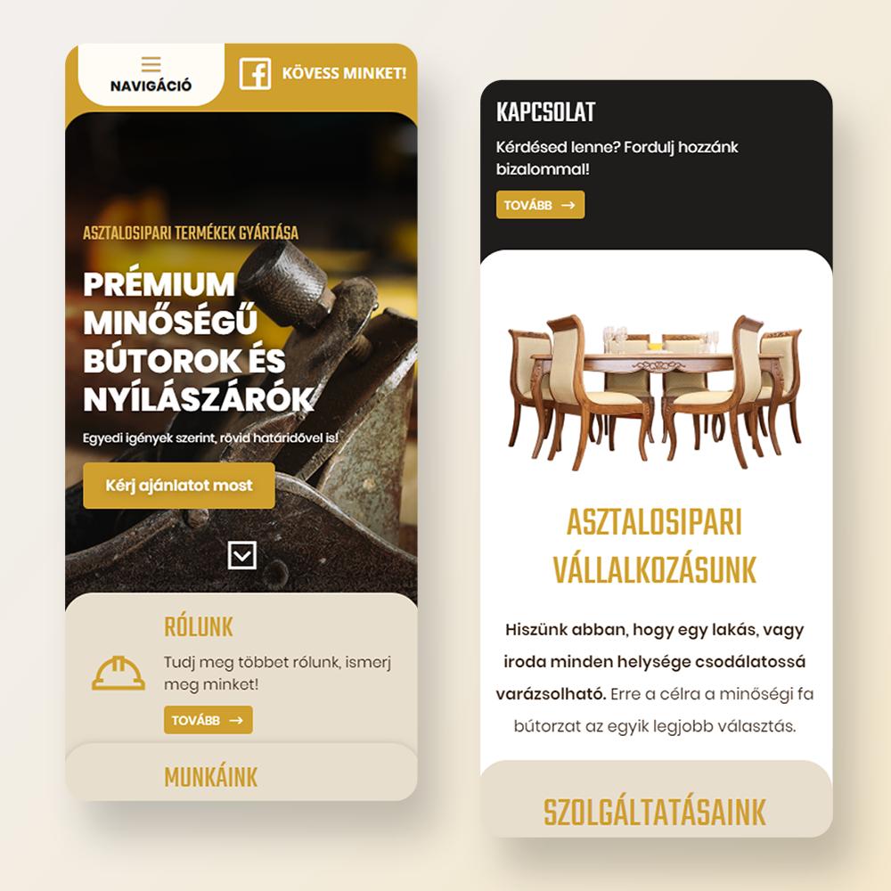 Mobileszköz barát weboldal, reszponzív weboldal, prémium weboldal