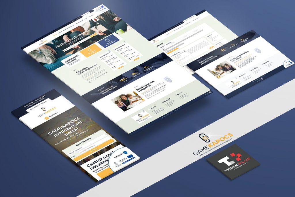 Webdesign tervezés, UI, weboldal fejlesztés